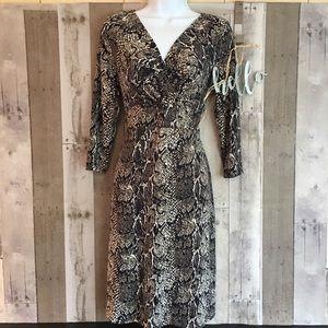 Talbots Dress Snakeskin Animal Print Size MP